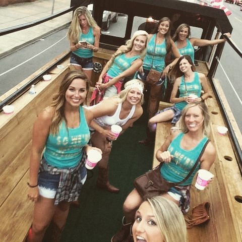 Nashville Bachelorette party, Party bus, Pedal Tavern, Bachelorette Party Ideas, Nashville party limo, Party limo, Honky Tonk Party Express